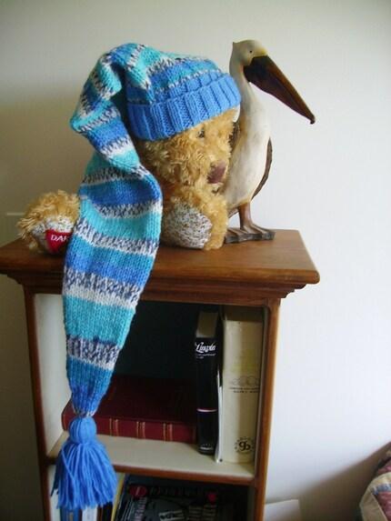 Knit 33 inch Long Floppy Stocking Cap, Ski Cap