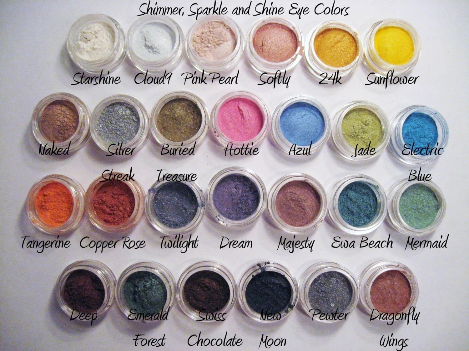 Try ANY 10 Samples of Mineral Makeup - Eyeshadow, 3-in-1, Foundation, Veil, Blush - You Choose - Free Shipping