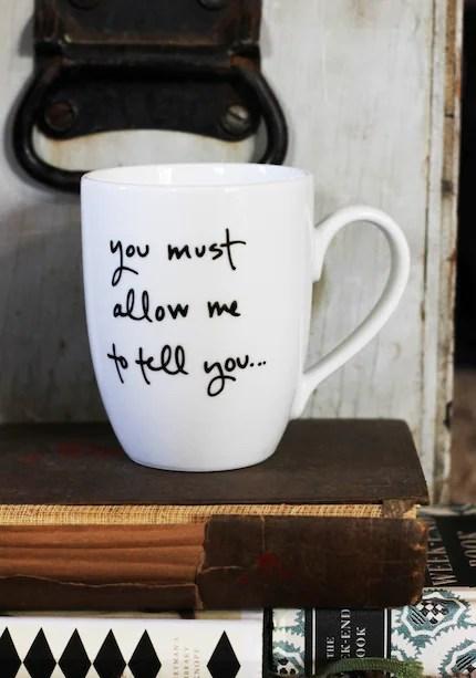 Mr. Darcy Proposal Mug