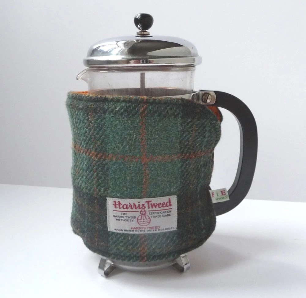 Cafetiere Cosy - Moss Green/Burnt Orange