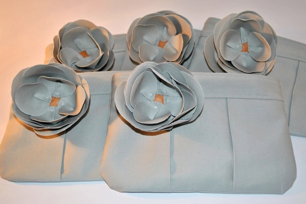 Set of 5 Bridesmaid Clutches