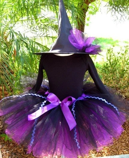 LIGHT UP Purple Witch Halloween Costume (6mo - 5T)