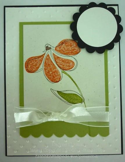 Design A Card-Orange Coneflower