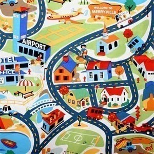 Michael Miller Merryville Tot Town Fabric- By the Yard