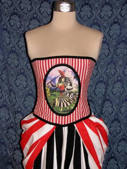Kate Flying girl corset by NightBirdDesigns