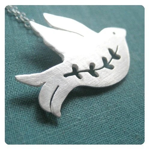 HOLIDAY LIMITED EDITION peace dove necklace