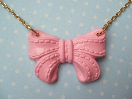 Pink Bowtastic Necklace