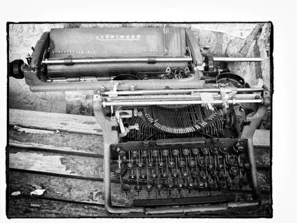 Typewriter photo art print