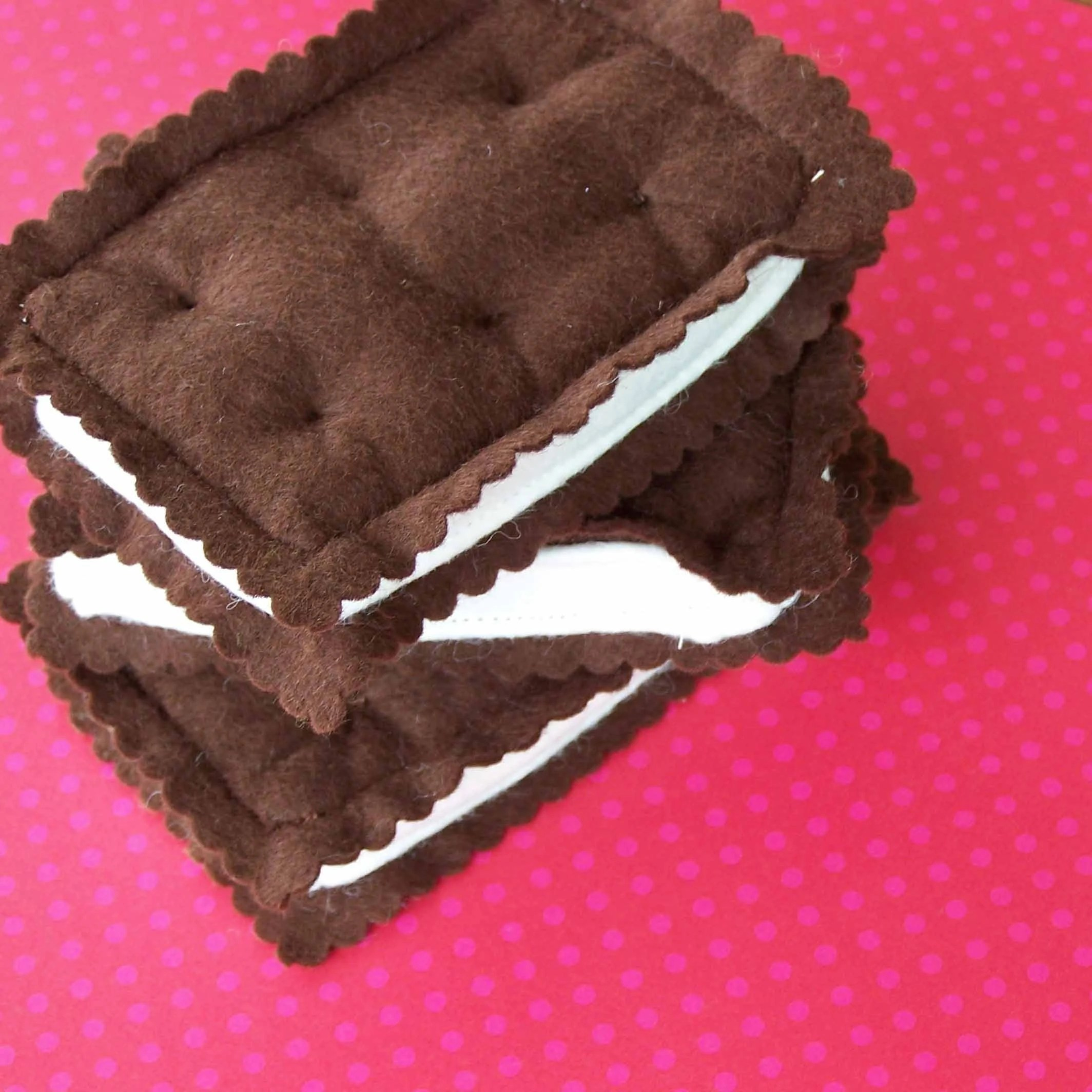 Felt Food Ice Cream Sandwich