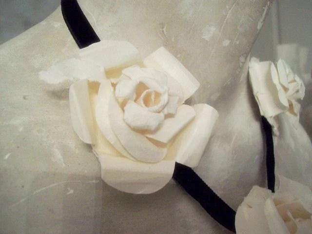 Paper Fleur and Velvet Necklace