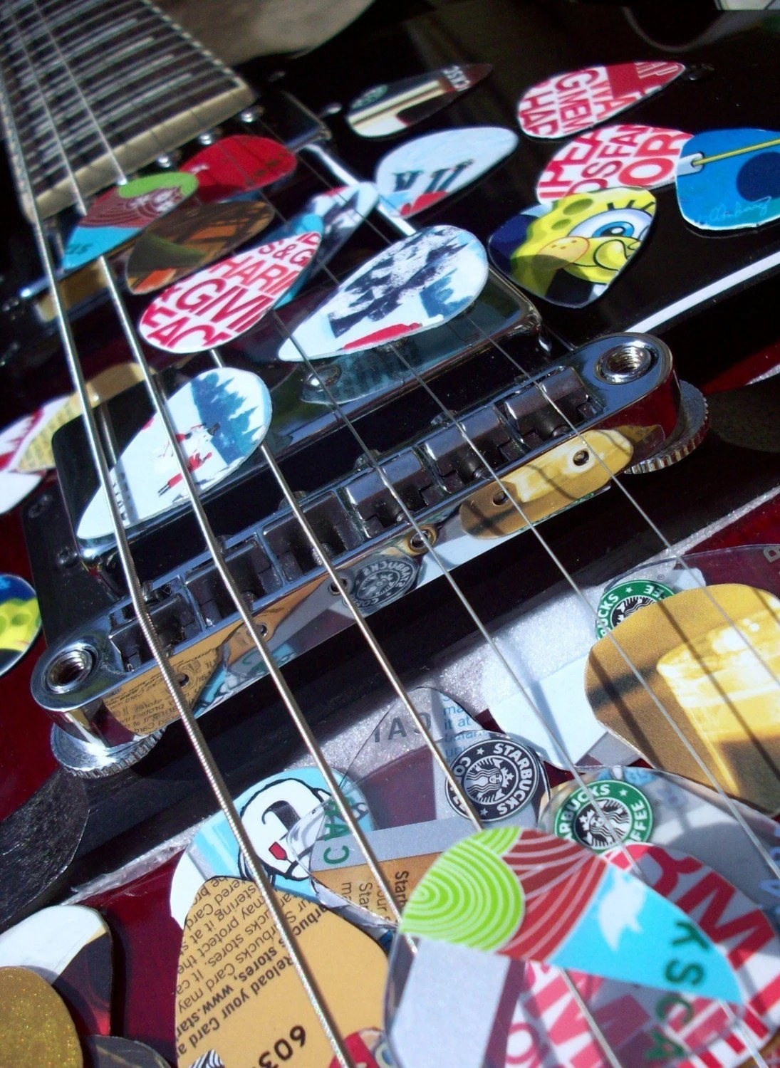 Upcycled Guitar Picks