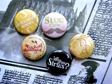 Harry Potter Buttons - Set A