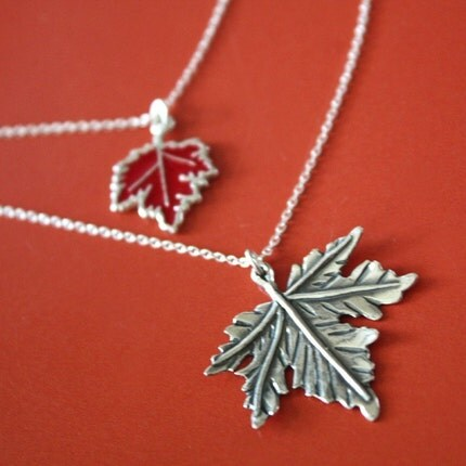 Autumn Maple Leaves necklace