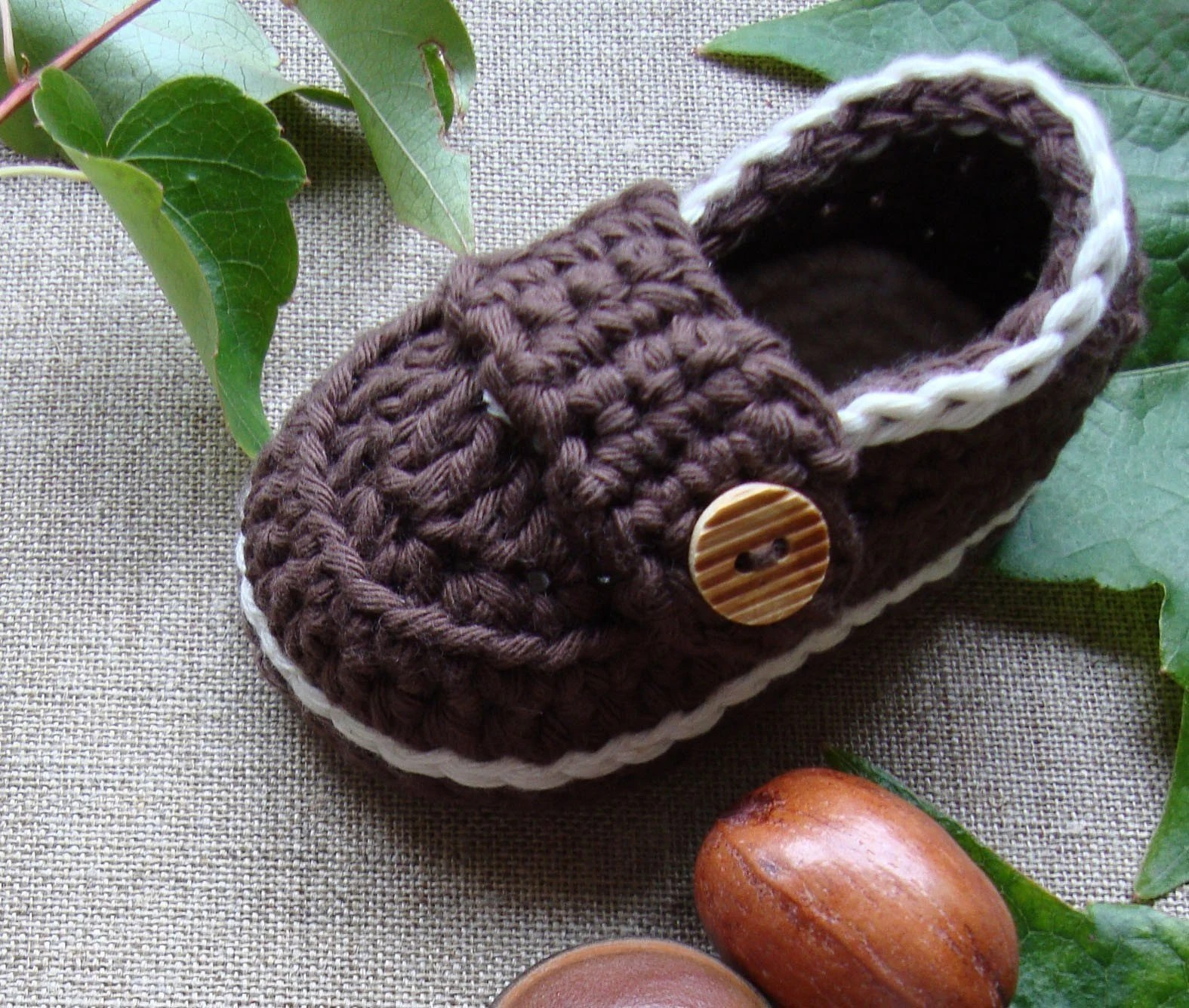 Handsome boy baby booties