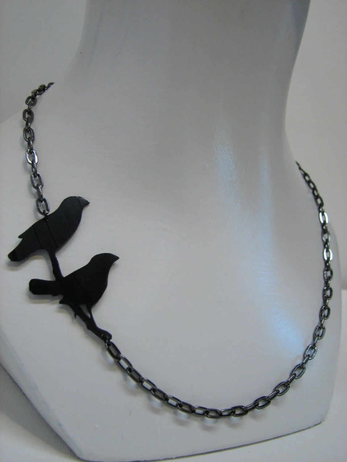 Finches Recycled Vinyl Record Silhouette