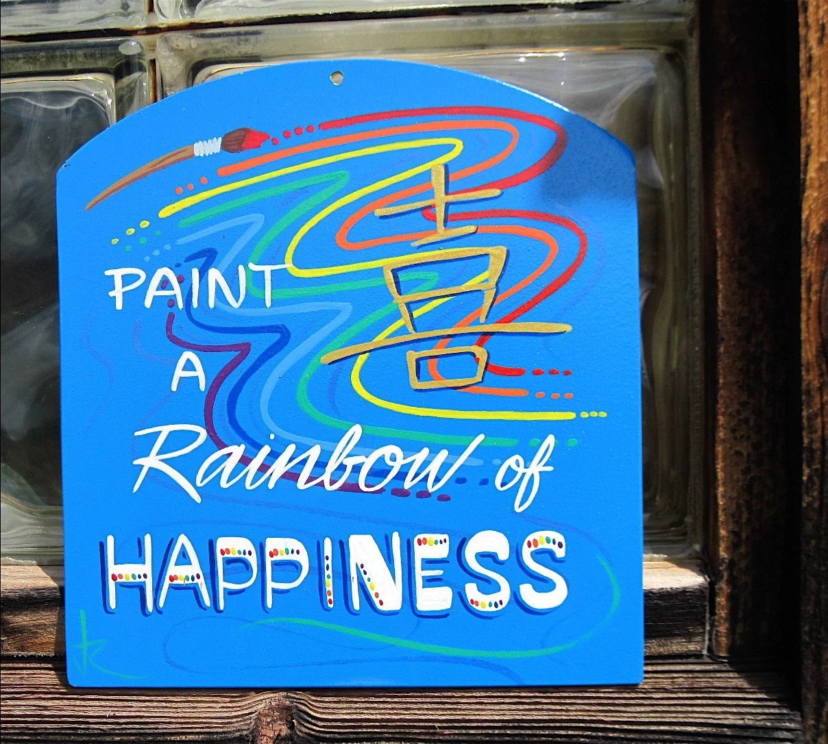 Rainbow of Happiness Wall Plaque