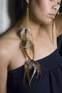Quick and Easy DIY Feather Earrings | See|Cate|Create