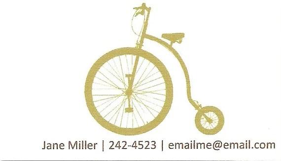 Vintage Bicycle Calling Cards