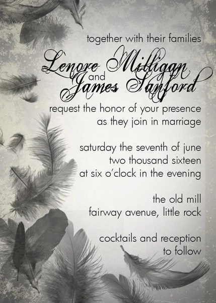 LENORE Wedding Invitation and Response Sample Set