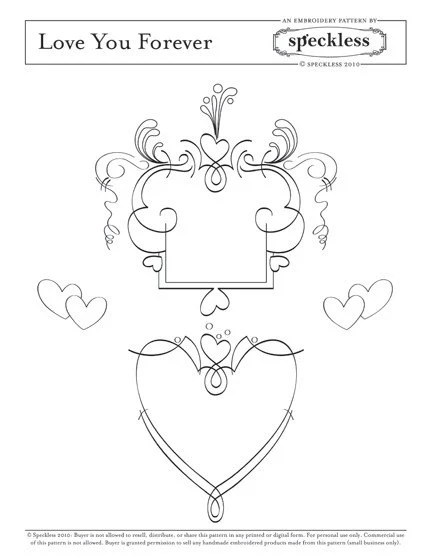 Embroidery Pattern- Love You Forever