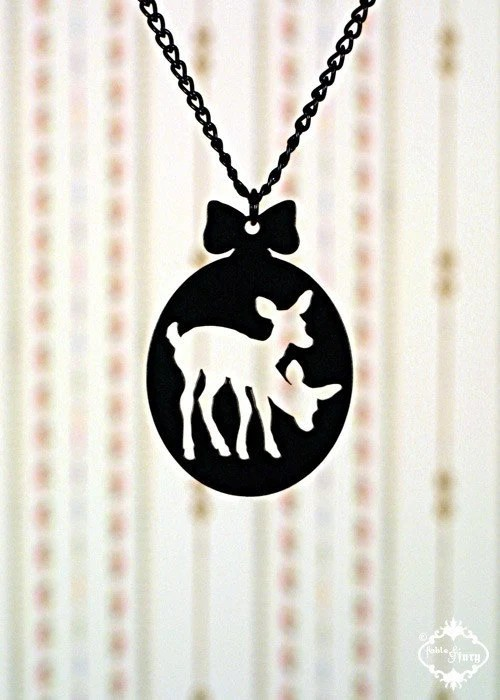 Twin Deer necklace from FableAndFury