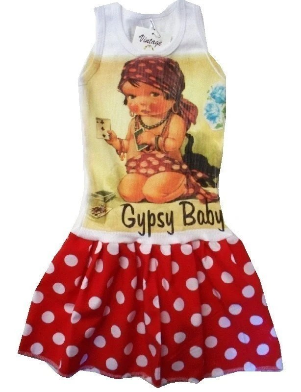 GIRLS BOUTIQUE DRESS - Size 3 mos up to 12 youth - GYPSY BABY