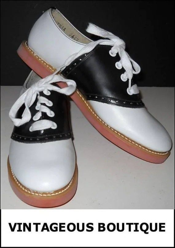 Rockabilly Black and White Shoes