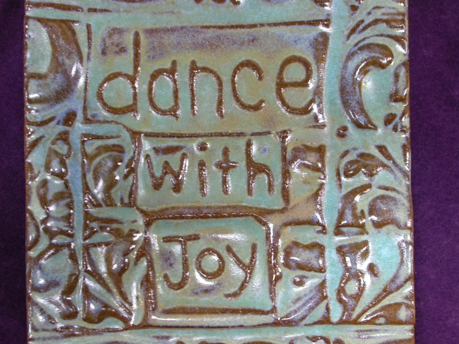 dance with joy handmade tile