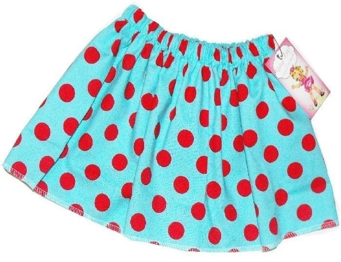 GIRLS RETRO POLKADOT SKIRT - Size 3 mos up to 12 youth - SODA POP DOTS