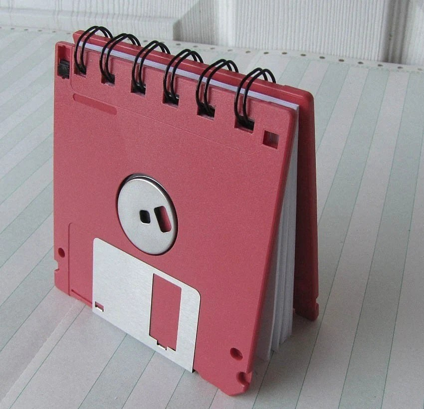 Watermelon Red Recycled Geek Gear Blank Floppy Disk Mini Notebook