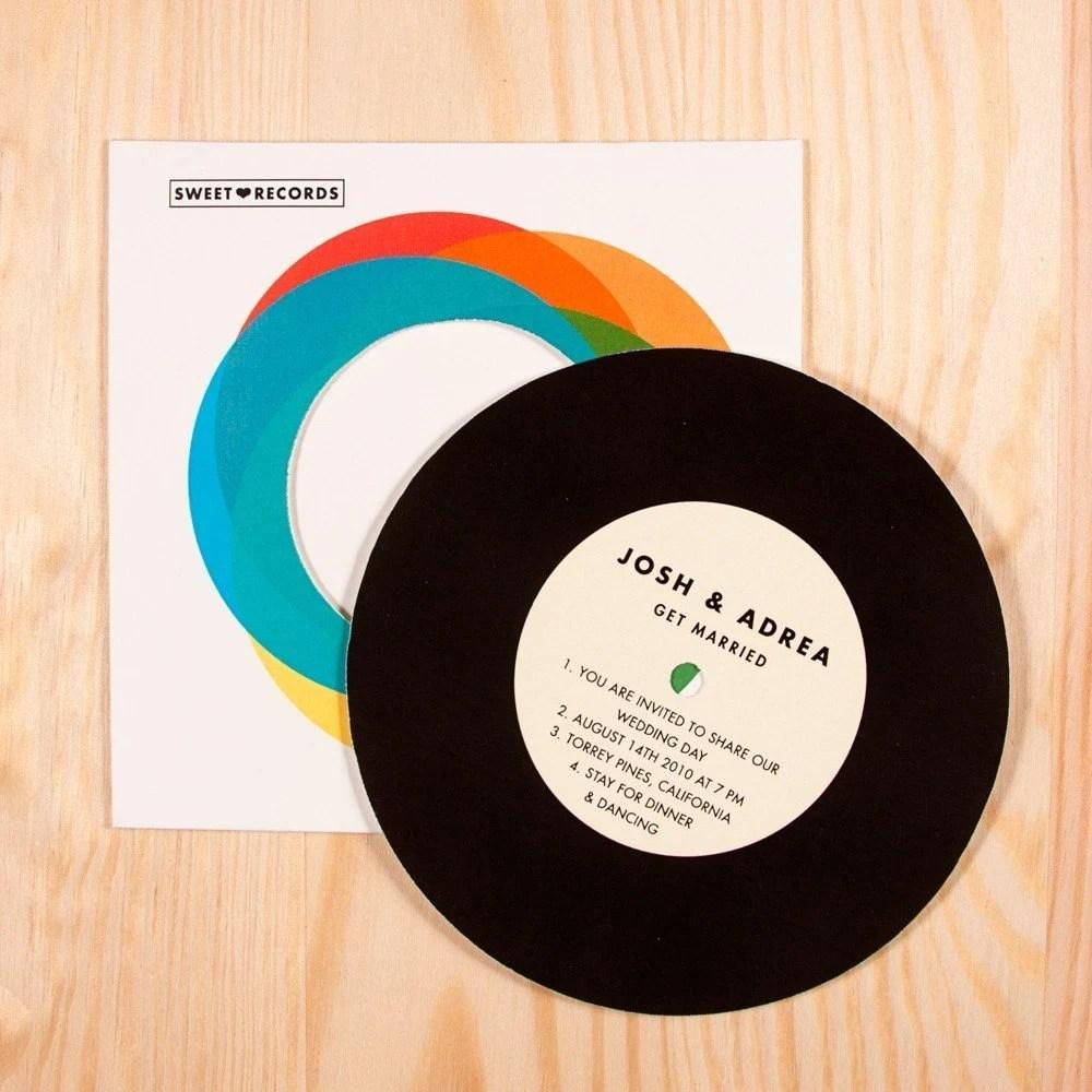 Record with Sleeve - Wedding invitation