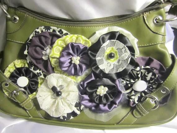 Classy Green and Purple Handbag