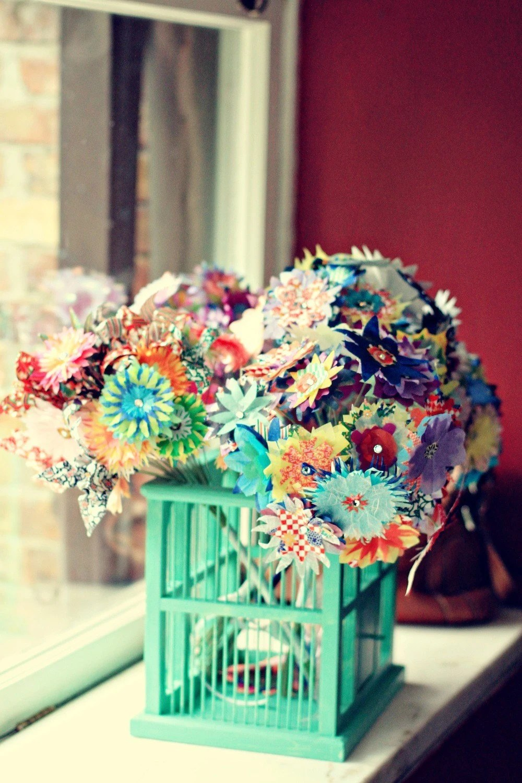 Custom Paper Bridal Bouquet