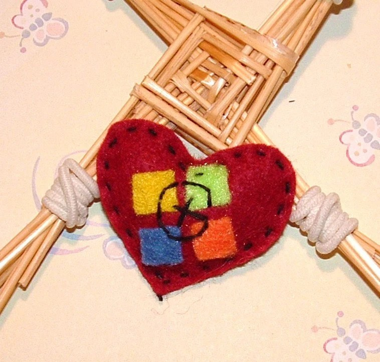 I Love Geocaching felt Valentines heart tokens geo swag