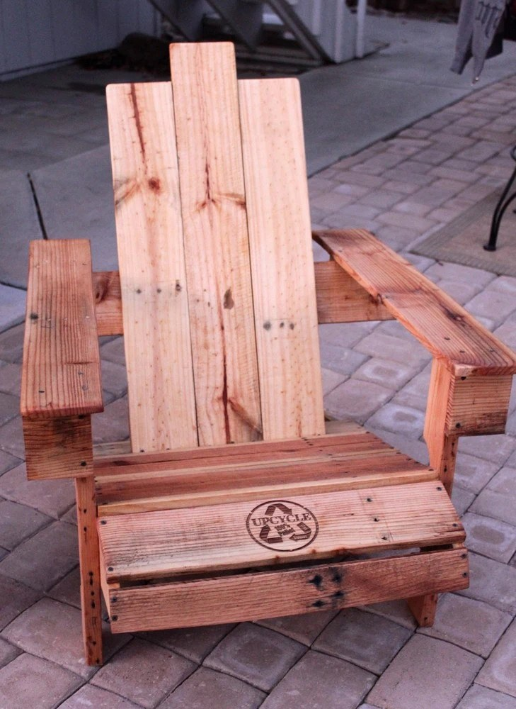 Upcycled Pallet Wood Adirondack Chair