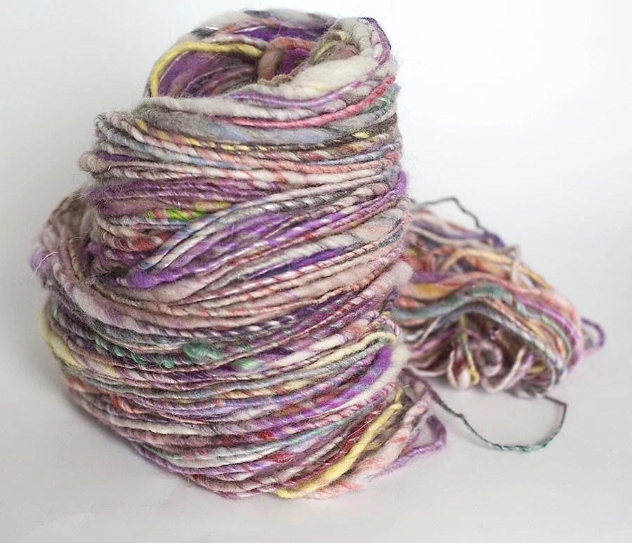 Honeysuckle Rose - single ply handspun yarn