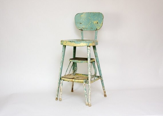 Ames Maid Shabby Chic Kitchen Chair and Stool