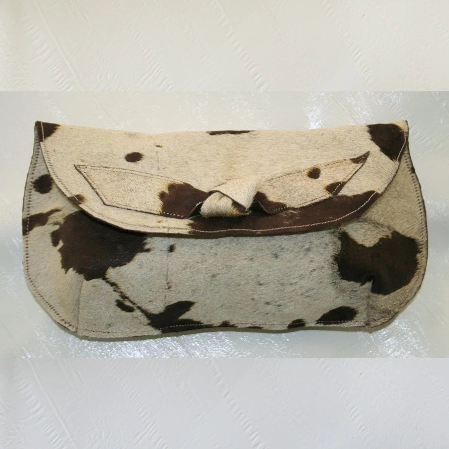 Bessy Hair on Hide Clutch with Knot Detail UOOAK