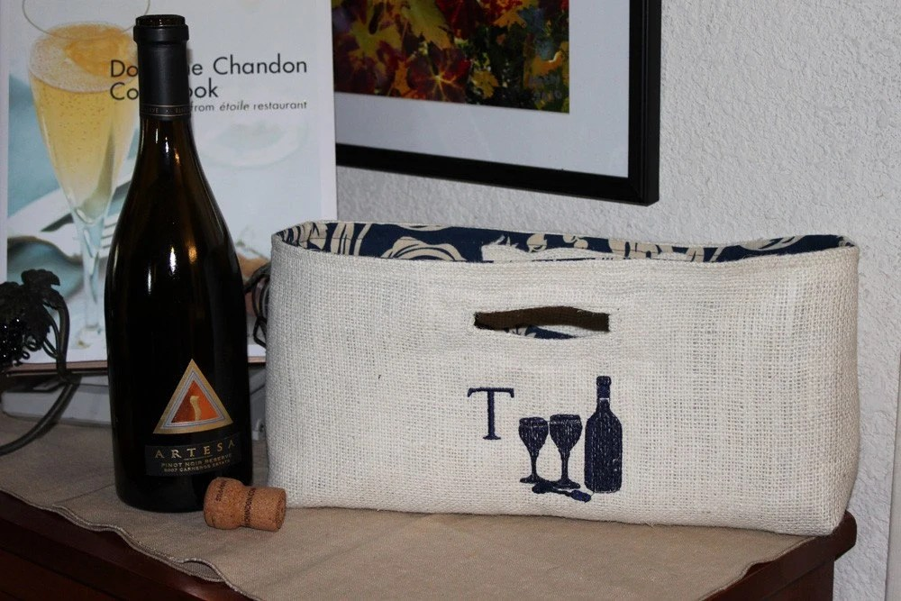Not Your Usual Wine Bag Monogrammed