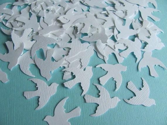 Dove Confetti - White