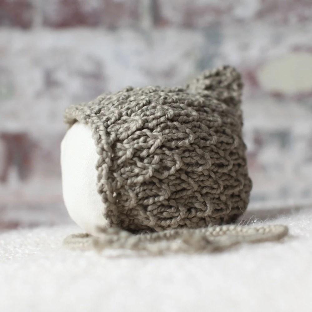 Elfkin Pixie Newborn Baby Hat - Khaki