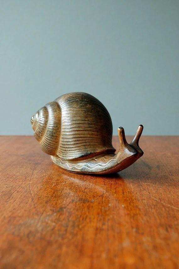 Vintage Otagiri Stoneware Snail