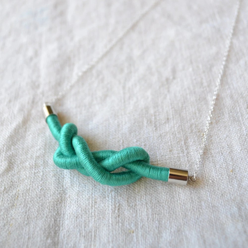 zee necklace (teal)