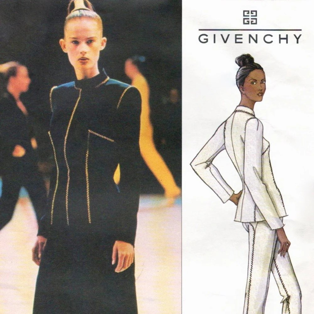 Givenchy by Alexander McQueen pattern, Vogue 2653
