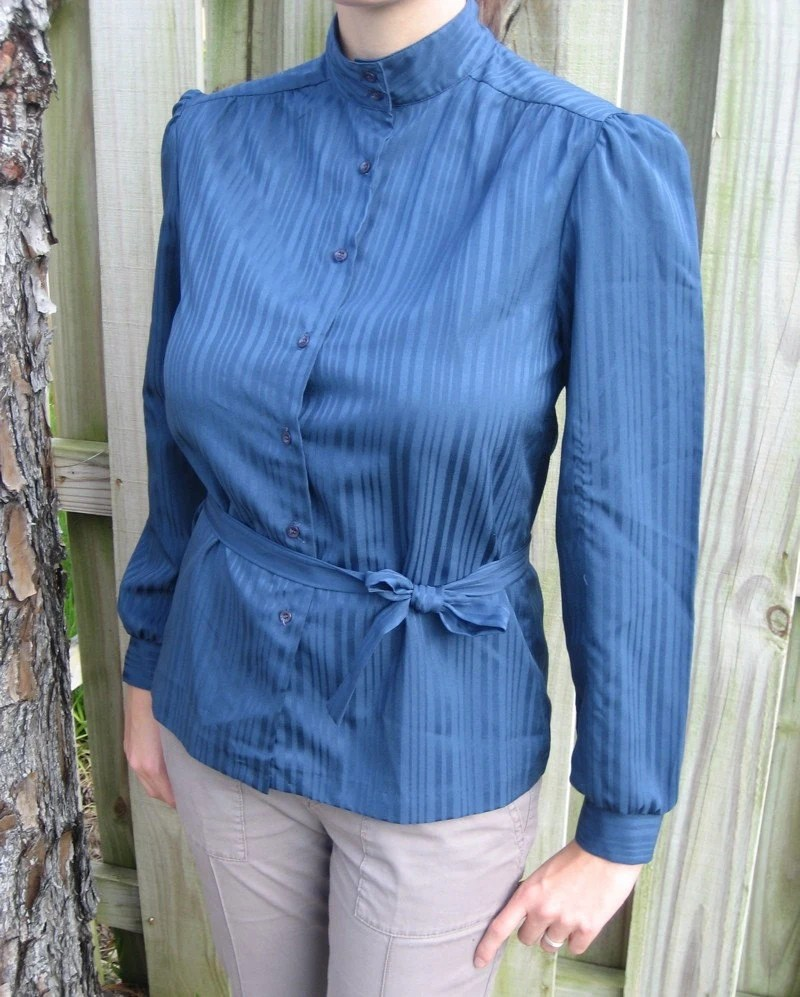 1970s Blue Blouse