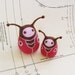 Ladybugs mini art dolls pair - mother and daughter