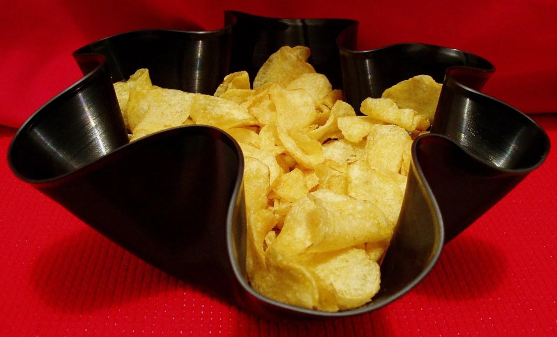 Vinyl Record Reuse Art Potato Chip Snack  Bowl