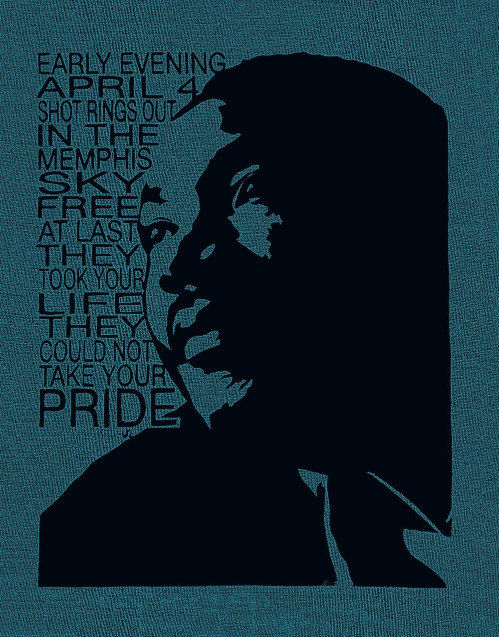 Martin Luther King Screen Print Postcard