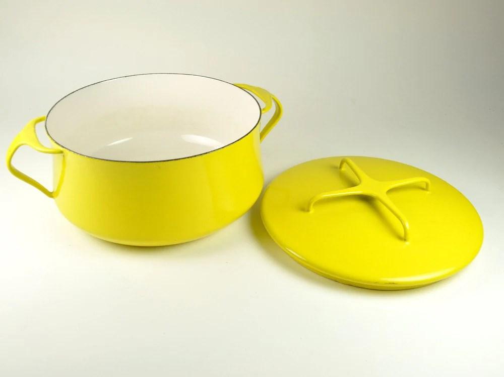 Dansk Kobenstyle yellow lidded dutch oven casserole Quistgaard