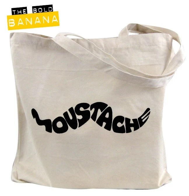 Retro Moustache Tote Bag